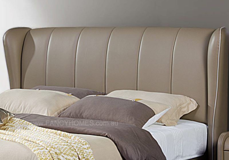 Fancy Homes Caroline Contemporary Leather Bed Frame, Leather Beds Bed Head