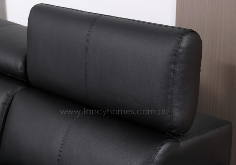 Fancy Homes Stereo modular leather sofa is featured with adjustable headrests