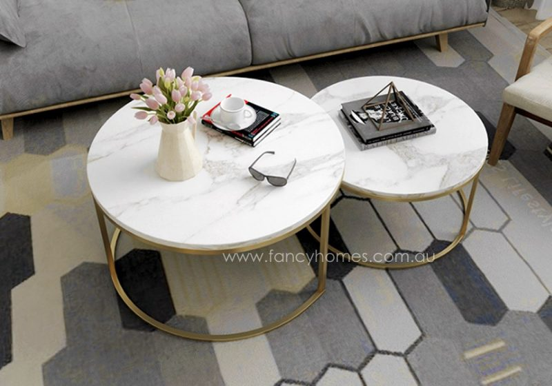 Fancy Homes Chelsea coffee table marble top