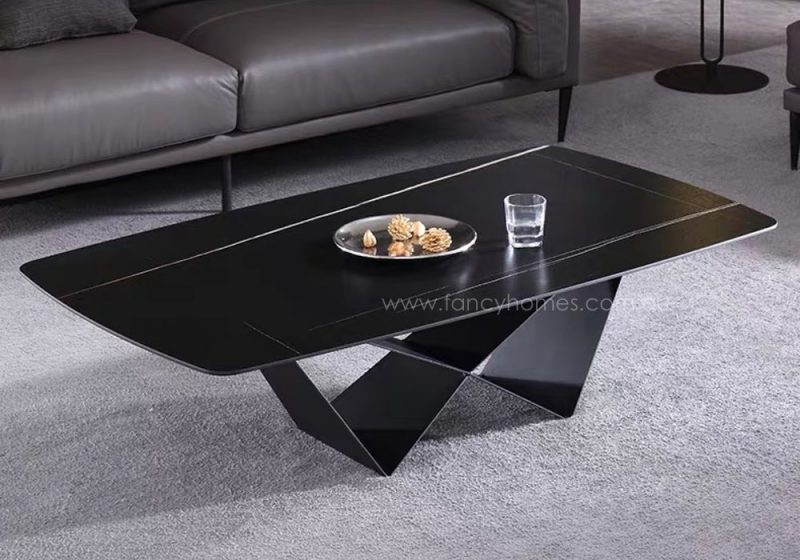 Fancy Homes Constance sintered stone coffee table with carbon steel base