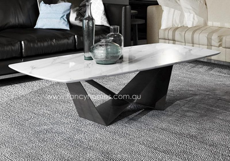 Fancy Homes Constance marble top coffee table