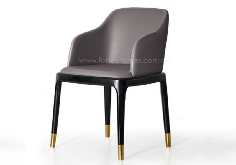 Fancy Homes Frank-B arm dining chair with golden leg caps