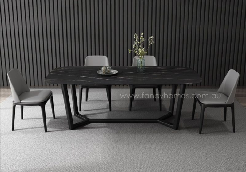 Fancy Homes Jacob sintered stone table, tables with Ash frame and legs