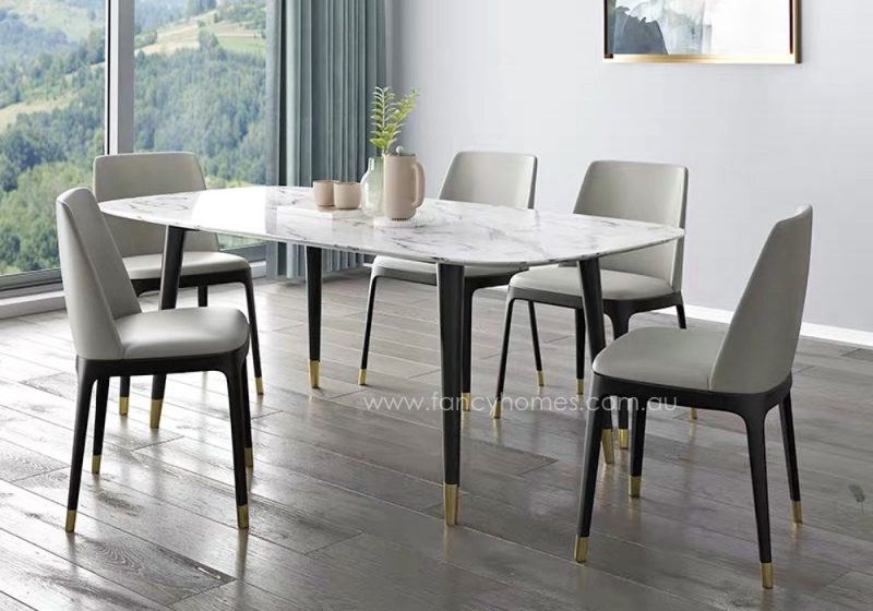 Fancy Homes Lexi marble top dining table, tables