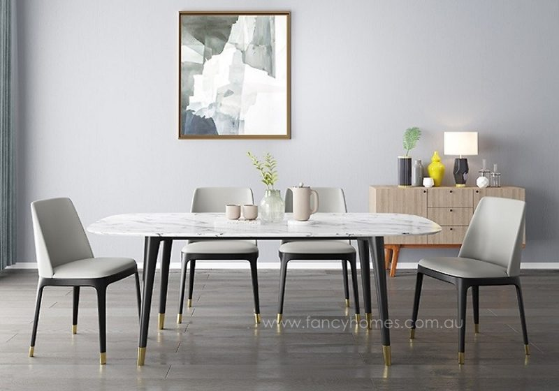 Lexi marble top dining table, tables front