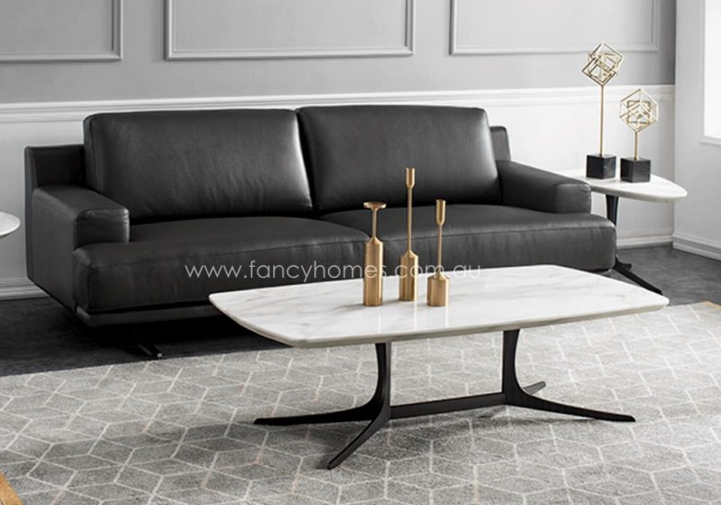 Fancy Homes Noah marble coffee table