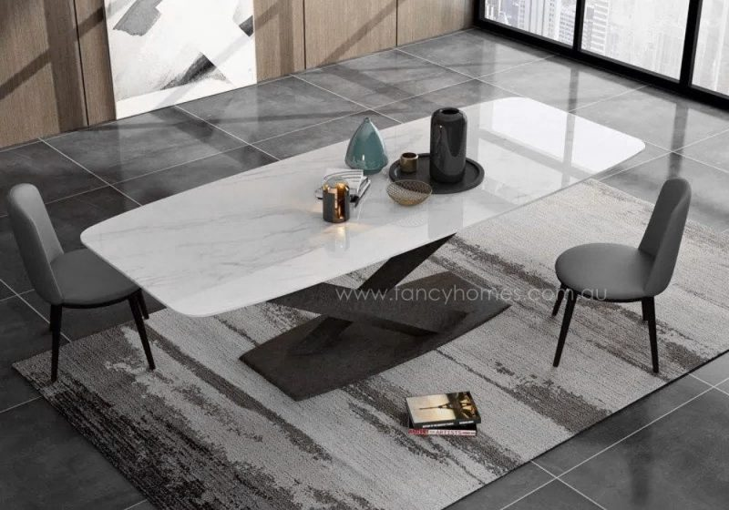 Fancy Homes Rocco marble dining table, tables with carbon steel frame