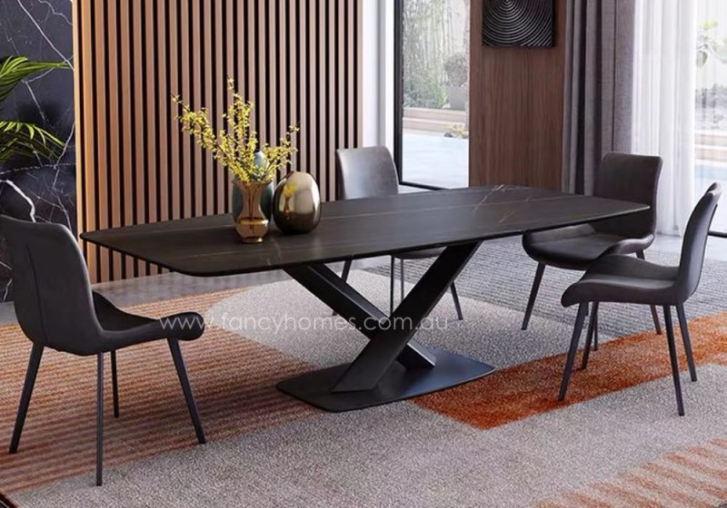 Fancy Homes Rocco sintered stone dining table, tables with carbon steel frame