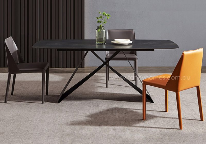Fancy Homes Vince sintered stone dining table, tables with carbon steel frame