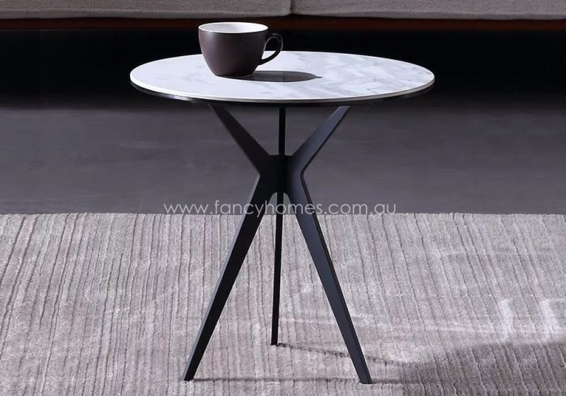 Fancy Homes Erik ceramic top side table