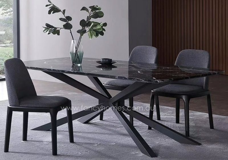 Fancy Homes Waverly marble top dining table
