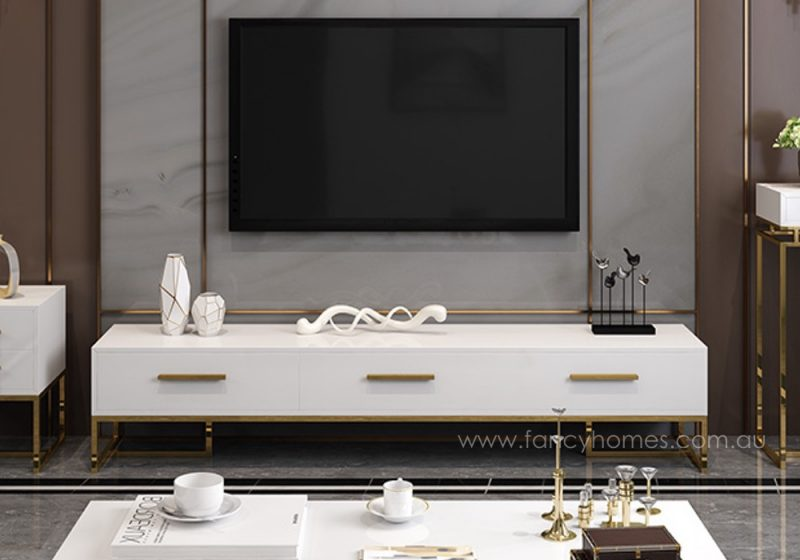 Fancy Homes Alessi Storage TV Unit, TV Furniture in white