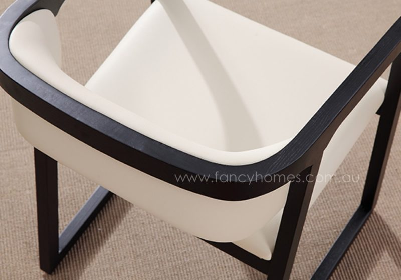 Fancy Homes Chiara arm dining chair featuring foam padded seating and back
