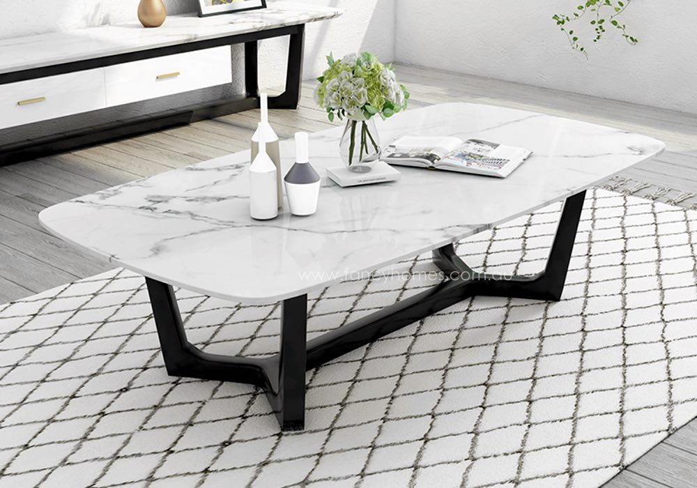 Buy Jacob Marble Top Coffee Table, Coffee Tables   Fancy Homes