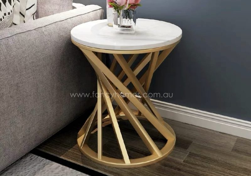 Fancy Homes Venus marble top side table