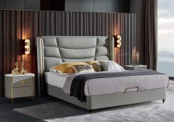 Fancy Homes Etan Italian leather bed frame leather beds