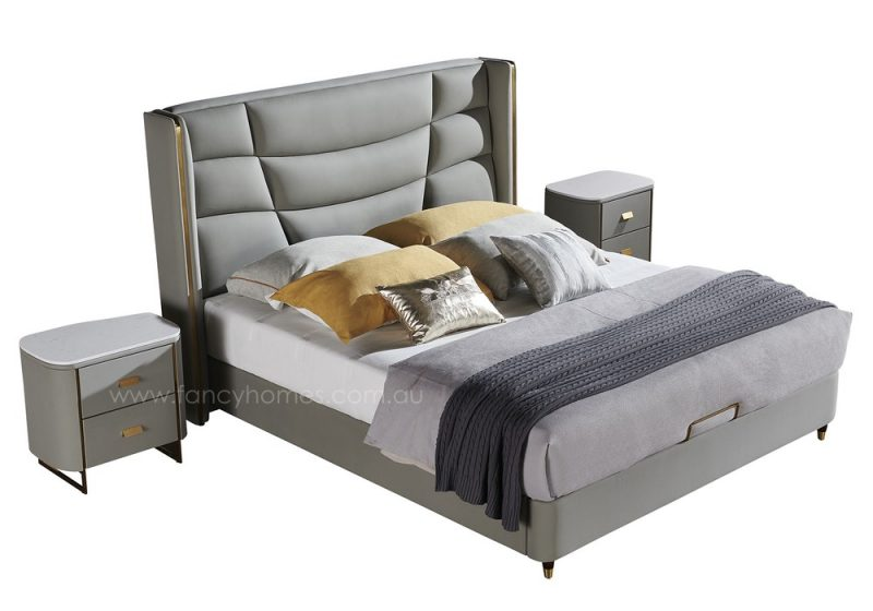 Etan Italian leather bed frame leather beds top