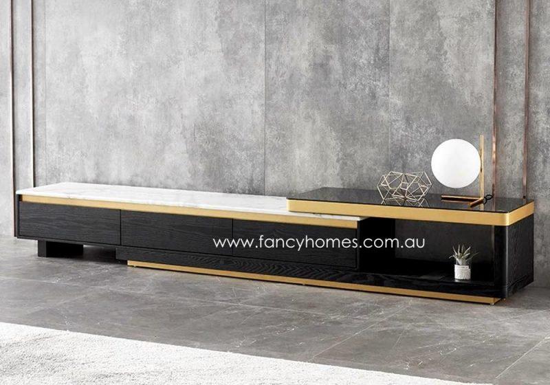 Fancy Homes Leslie Marble Top TV Unit