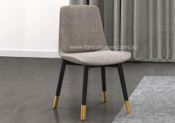Fancy Homes Erin Fabric Dining Chair with Golden Leg Cap