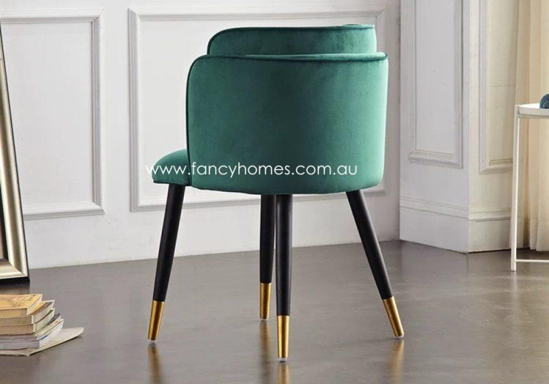 Fancy Homes Tyra Velvet Dining Chair Back