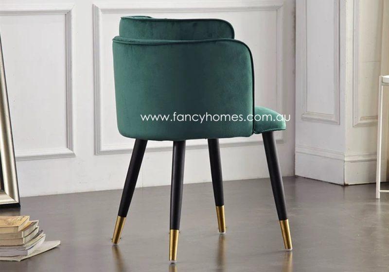 Fancy Homes Tyra Velvet Dining Chair Side