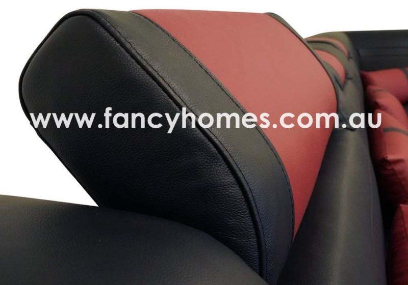 Fancy Homes Evoque Modular Leather Sofa Adjustable Headrests