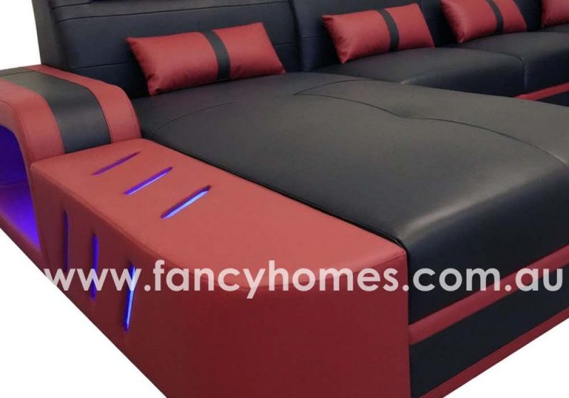 Fancy Homes Evoque Modular Leather Sofa Chaise