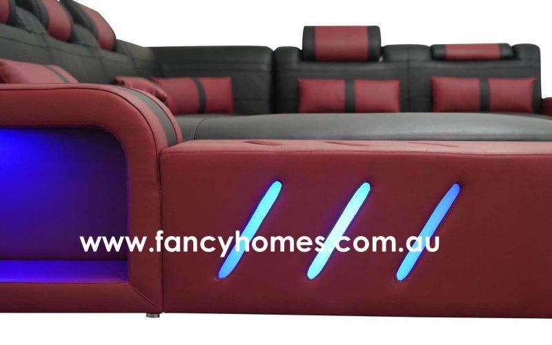 Fancy Homes Evoque Modular Leather Sofa Lighting