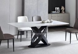 Fancy Homes Galaxy Marble Top Dining Table