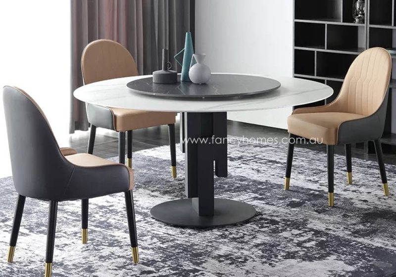 Fancy Homes Matisse Round Sintered Stone Dining Table