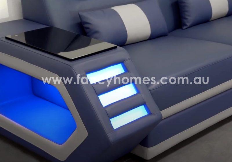 Fancy Homes Skylar Leather Sofa Armrests