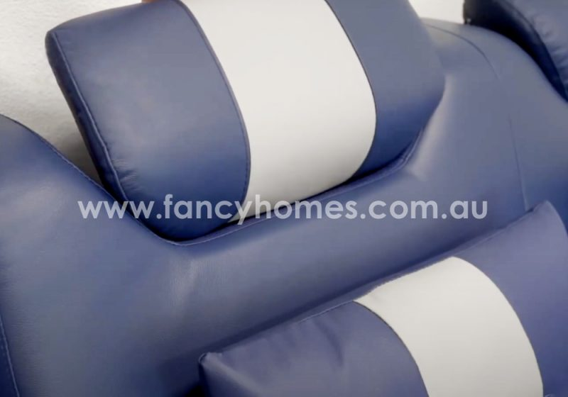 Fancy Homes Skylar Leather Sofa Adjustable Headrests
