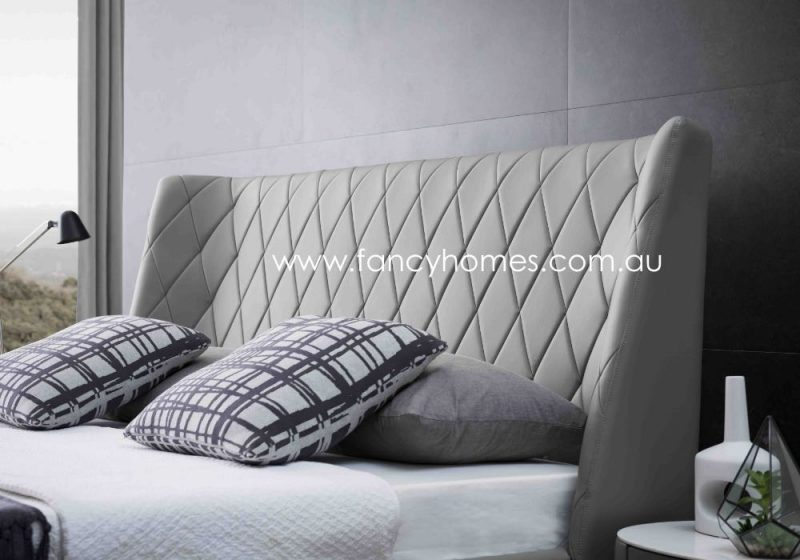 Fancy Homes Camila Italian Leather Bed Frame Leather Beds Bed Head Stitchings