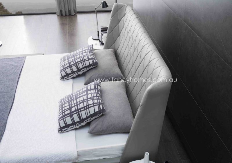 Fancy Homes Camila Italian Leather Bed Frame Leather Beds Bed Head