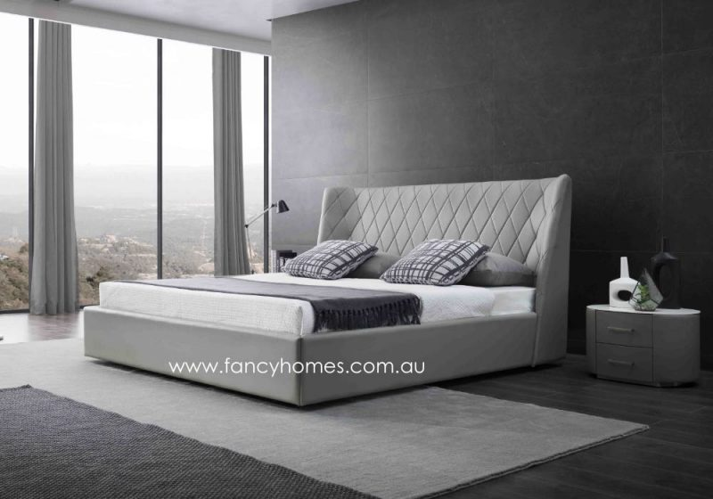 Fancy Homes Camila Italian Leather Bed Frame Leather Beds Side
