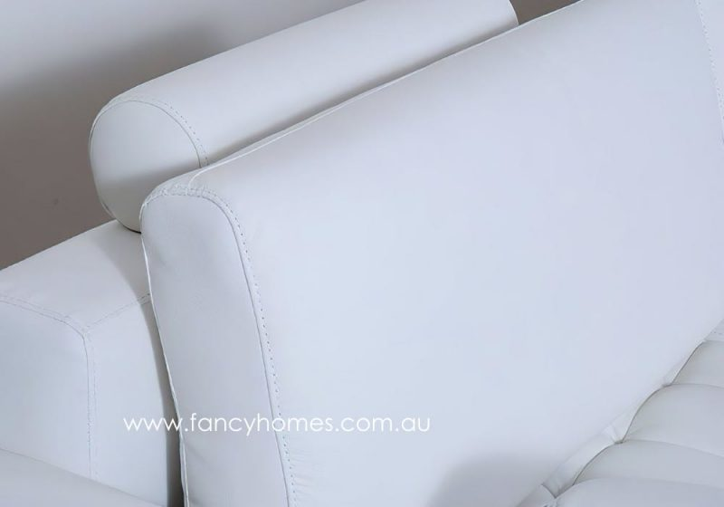 Fancy Homes Madison Modular Leather Sofa with Removable Backrests and Adjustable Headrests