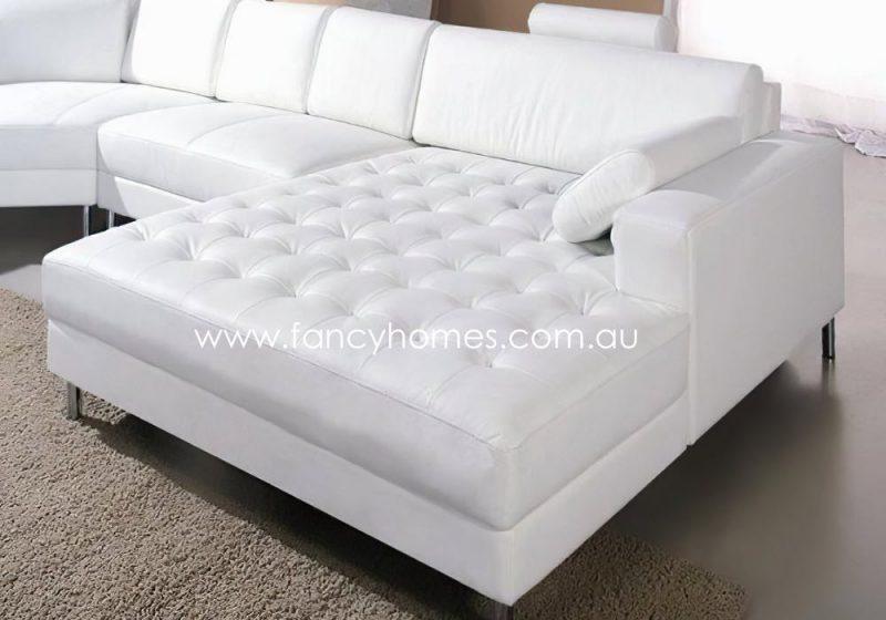 Fancy Homes Madison Modular Leather Sofa Spacious Chaise