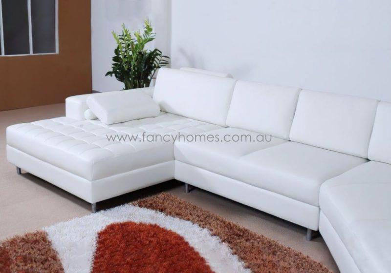 Fancy Homes Madison Modular Leather Sofa High-density Foam Seatings