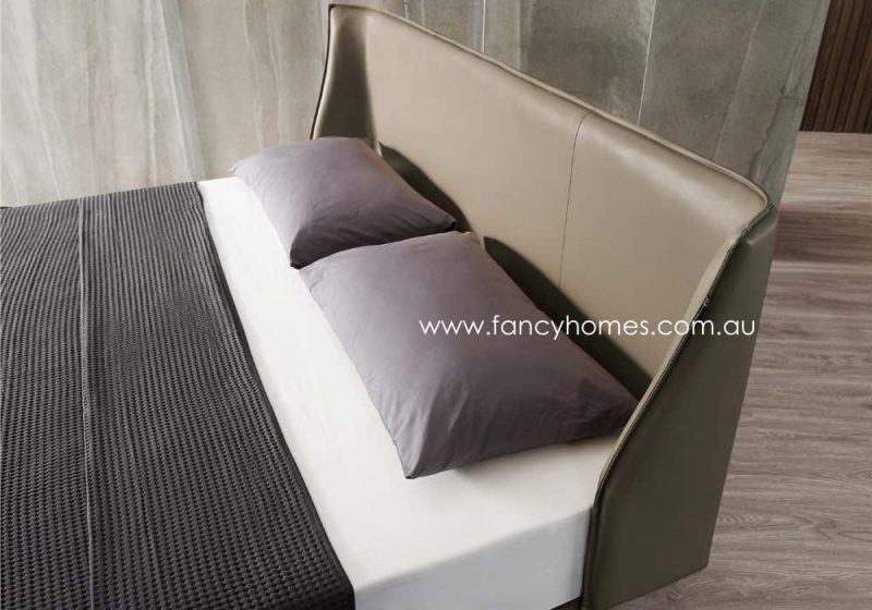Fancy Homes Marley Italian Leather Bed Frame Leather Beds Bed Head