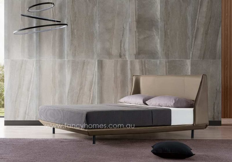Fancy Homes Marley Italian Leather Bed Frame Leather Beds Side