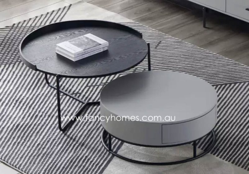 Fancy Homes Micah Coffee Tables Black and Grey
