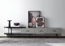 Fancy Homes Micah TV Unit in Black and Grey
