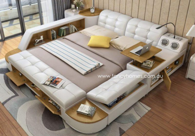 Fancy Homes Celina Multifunctional Leather Bed Frame