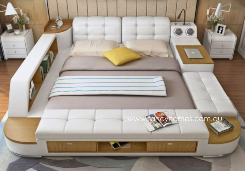 Fancy Homes Celina Multifunctional Leather Bed Frame Top