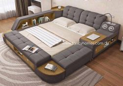 Fancy Homes Celina Multifunctional Fabric Bed Frame, Fabric Beds