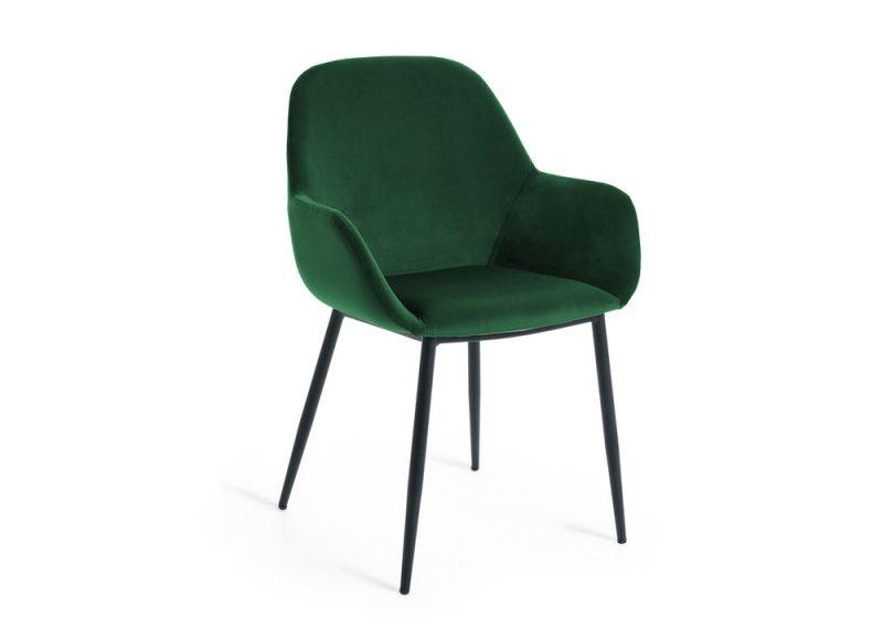 Konna dining chair green velvet