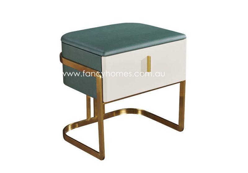 Fancy Homes SYT-206 Bedside Table with Golden Base